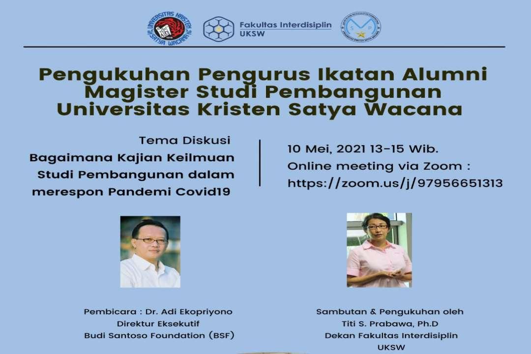 Pengukuhan Pengurus Ikatan Alumni Magister Studi Pembangunan UKSW