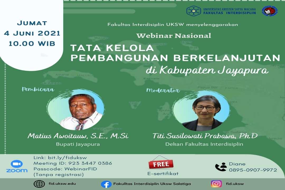 Webinar Nasional Tata Kelola Pembangunan Berkelanjutan di Kabupaten Jayapura